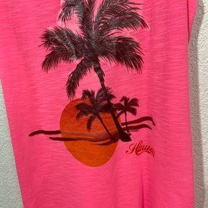 Baba Swim - BaBa USA Neon Pink Swim Coverup Hawaii Large